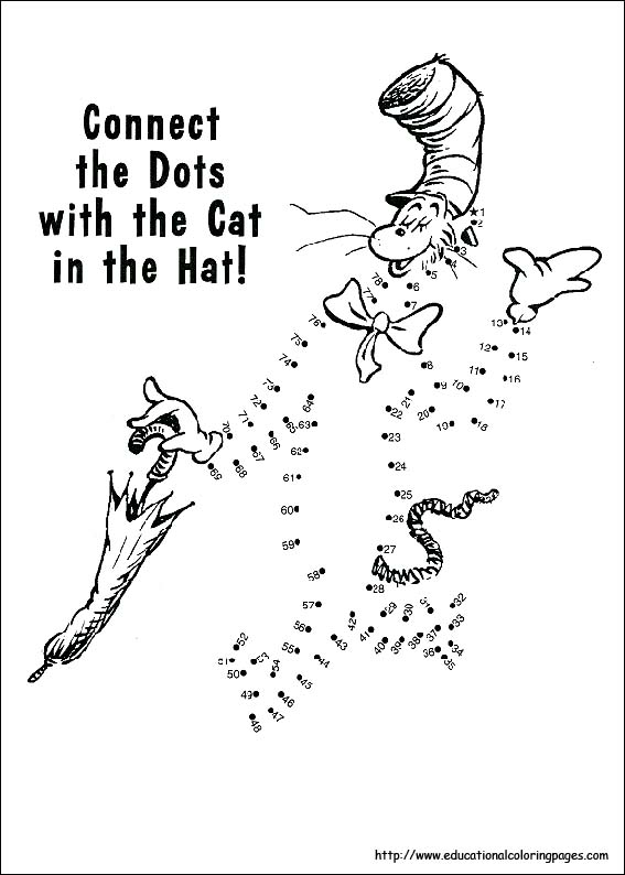 Dr. Seuss printable coloring pages