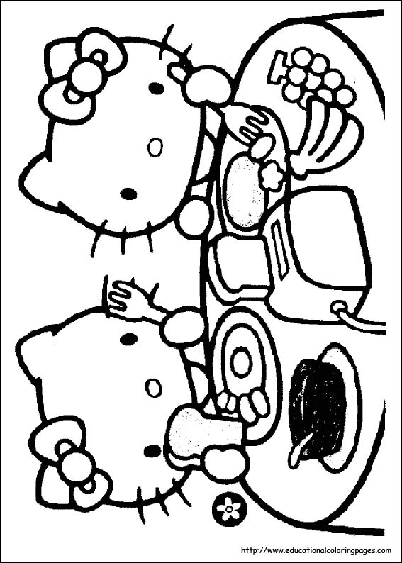 Hello Kitty Valentines Day Coloring Pictures. Hello Kitty Valentines Day
