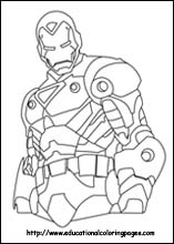 Iron  Coloring Pages on Iron Man Coloring Pages
