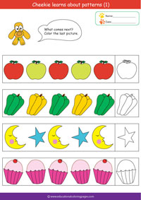 Math Pattern Worksheets